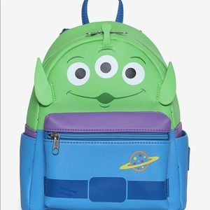 LOUNGEFLY DISNEY TOY STORY ALIEN BACKPACK